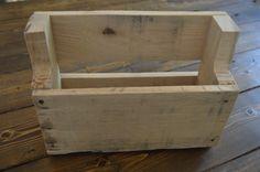 Rustic, reclaimed wooden wall mounted shelf