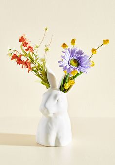 Great Hare Day Vase. Every morning you awake to this rabbit vase beside your…