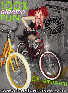 100% electric FUN!  Pedego Electric Bikes