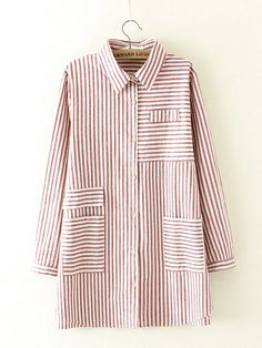 Vintage Lapel Striped Blouses for Women- can find Blouses and more on our website.Vintage Lapel Striped Blouses for Women- Korean Blouse, Fashion Tips For Women, Womens Fashion, Blouses For Women, T Shirts For Women, Striped Blouses, Blouse And Skirt, Plus Size Blouses, Blouse Styles