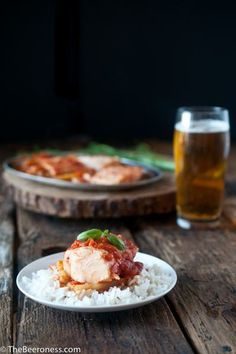 Tomato Herb and Beer Poached Cod with Caramelized Fennel Recipe