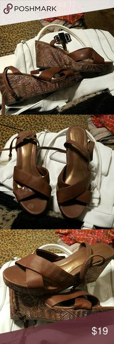 Gorgeous shoes With ankle straps,All offers welcome FIONI Clothing Shoes Wedges