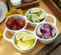 BNT:  Great White Condiment Set from Pottery Barn  $45.00