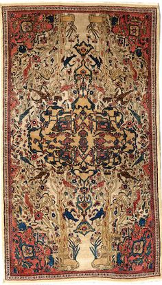 Fereghan Sarouk rug  Central Persia  late 19th century  size approximately 3ft. 3in. x 5ft. 8in.