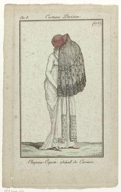 Journal des Dames et des Modes, Costume Parisien, 1 décembre 1799, An 8 (175)…