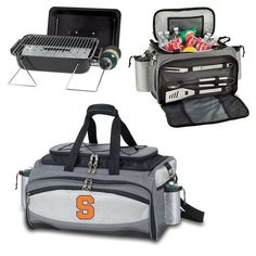 Picnic Time Vulcan (Syracuse U Orange) EmbroideredThe Vulcan is a Picnic Time original design and the ultimate tailgating cooler and propane barbecue set in one! Don't be fooled by other similar looki