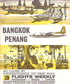 An early poster for Malaysia-Singapore Airlines