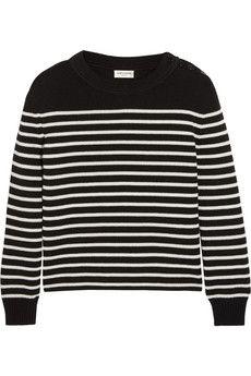 Saint Laurent Striped cotton and wool-blend sweater | NET-A-PORTER