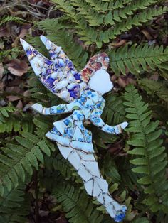 Whimsical Mosaic Fairy Tinkerbell by LivingLeaf on Etsy