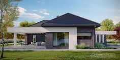 Projekt domu HomeKONCEPT-32 | HomeKONCEPT New House Plans, Residential Architecture, Gazebo, New Homes, Farmhouse, Outdoor Structures, How To Plan, Porches, Outdoor Decor