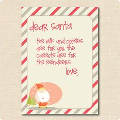 Printable Letter From Santa  Printable Letters Santa And Envelopes