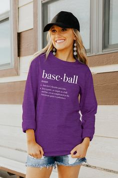 "Classic and comfy collide with our ""INSERT NAME HERE"" Premium Crew. The mixture of the ribbed cuffed long sleeves and ribbed crew neck provides the perfect go-to top for those chilly game nights. Mom Outfits, College Outfits, Soccer Game Outfits, Coaches Wife, Team Apparel, Football Shirts, Wholesale Clothing, Clothes For Women, Sweatshirts"