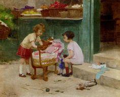 Victor Gabriel Gilbert (1847-1933) The Favourite Teddy Bear
