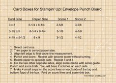 Tutorial – Stampin' Up! Envelope Punch Board Card Boxes -