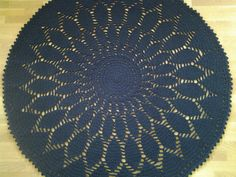 Crochet doily round rug, 70, 8''(180 cm),Made to order/Crochet Rug/Rugs/Rug/Area Rugs/Floor Rugs/Large Rugs/Handmade Rug/Carpet/Wool Rug