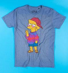 Simpsons Shirt, The Simpsons, T Shirt Diy, Sweater Shirt, Shirt Men, Blusas Oversized, Diy Clothes Videos, Diy Videos, Stylish Clothes