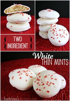 Two Ingredient White Thin Mints recipe- so easy and delicious!