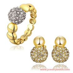 Attractive Wholesale Tin Alloy Ladies Gold Plated Fashion Ball Jewelry China
