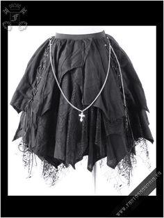 Black Cathedral skirt | Fantasmagoria.eu - Gothic Fashion boutique