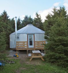 A 133 sq ft yurt you can make yourself in about three hours tiny island yurt solutioingenieria Choice Image
