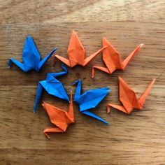 InstaOrbit 2016. Day 72 (12Mar2016) 7 Cranes. Pace yourself. Follow the flock! #InstagramOrbit #2016 #followtheflock #origami #1000 #100 #fizzle #just #keepmoving #keeppounding #riseandgrind #keeppushing #paceyourself #keepmovingforward