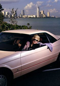 Mary Kay Ash in her pink Allante Cadillac - Mary Kay Cosmetics