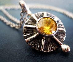 Yellow zircon necklace  by MaryECreations from Greece