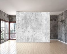 old grey concrete textured wall mural is a repositionable peel