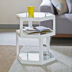 Click to zoom - Hex side table white
