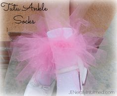 Add some glitz and glamor to your little princesses life with these adorable sweetheart tutu socks and tutu hair ties!