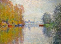 Claude Monet Autumn-on-the-Seine-at-Argenteuil 1873                    Click or tap three times for HD.