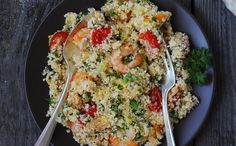 Enjoy our collection of online recipes from kitchens like yours. Browse breakfast recipes, lunch recipes, dinner recipes, dessert recipes and more. Shrimp Couscous, Couscous Salad, Pasta Salad, Halloumi, Vinaigrette, Wine Recipes, Seafood Recipes, Cooking Tips, Cooking Recipes