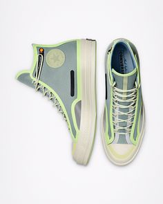 Top Shoes, Shoes Sneakers, Mirror Artwork, Leather Fashion, Mens Fashion, Converse Hi, Custom Boots, Boot Shop, Sports Shoes