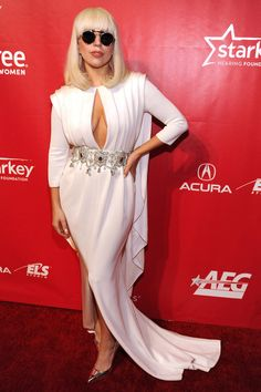 Lady Gaga at the 2014 MusiCares Person of the Year event honoring Carole King.