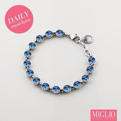 Swarovski blue crystal bracelet B1252