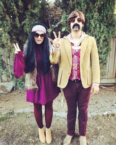 Pin for Later: See This Year's Most Creative DIY Halloween Costumes! Sonny and Cher