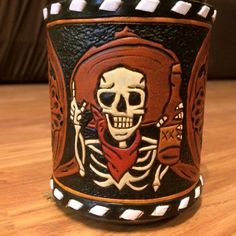 Koozie by Royall Custom Leather! Look us up on fb!