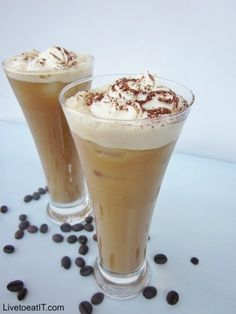 How to make iced coffee with ice cream