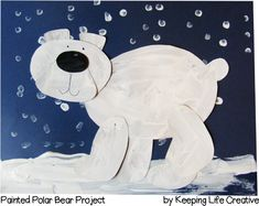 painted polar bear craft