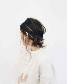 Messy low bun | @andwhatelse