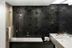 Black Titles Bathroom - Interior designs for your home