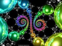 fractal unicorn | Double Cusp, balls, colors, fractal, fractals, globes, spheres, spiral
