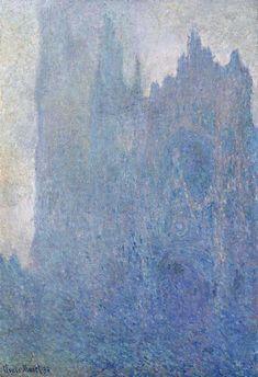 Trademark Fine Art 'Rouen Cathedral Facade' Canvas Art by Monet, Size: 22 x Blue Monet Paintings, Impressionist Paintings, Landscape Paintings, Landscapes, Claude Monet, Manet, Artist Monet, Inspiration Artistique, Art Japonais