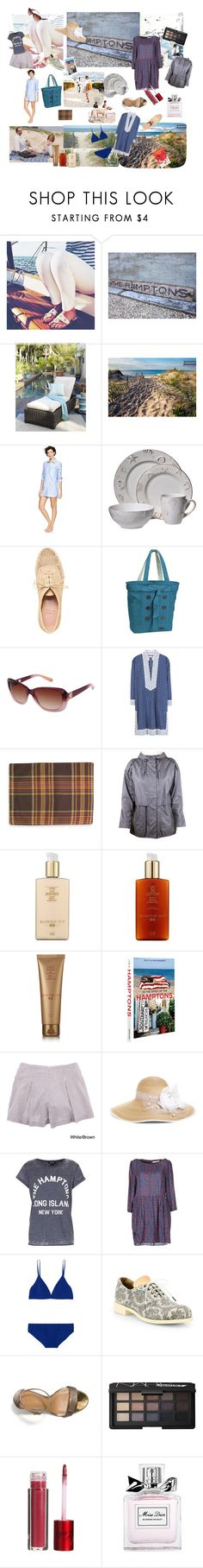 """""""Weeck-end at the Hamptons"""" by nathalie-puex ❤ liked on Polyvore featuring Vince Camuto, Gap, Stuart Weitzman, OGIO, Sperry, Tory Burch, Steven Alan, Hampton Sun, Assouline Publishing and American Apparel"""