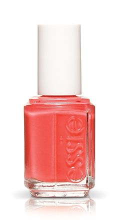 "essie nail polish in the color 584 ""Tart Deco""-favorite things gift Coral Nail Polish, Coral Nails, Essie Nail Polish, Coral Pink, Red Nail, Neon Nails, Nail Polishes, Coral Color, Manicures"