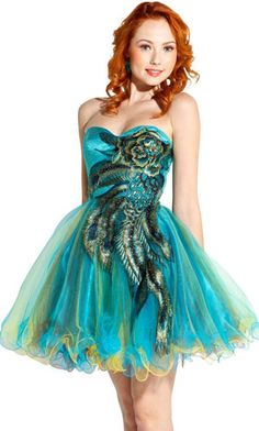 short prom dress. A little eccentric but cute!