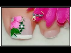 Butterfly Nail, Manicure And Pedicure, Coffin Nails, Lily, Nail Art, Beauty, Youtube, Nail Art Flowers, Designed Nails