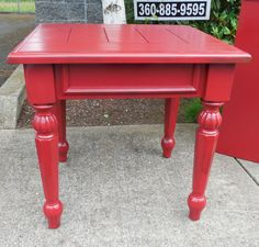 Red End Table $49.00. - Consign It! Consignment Furniture