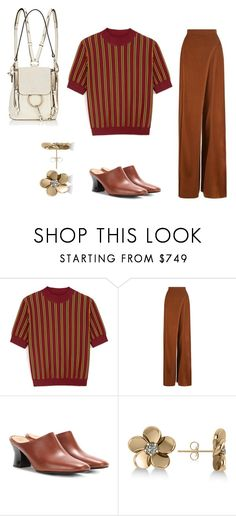 """""""on werk"""" by zkrn on Polyvore featuring Mulberry, Balmain, The Row, Allurez and Chloé"""