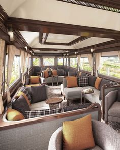 Be among the first on board Belmond Grand Hibernian, our new Irish train, when journeys start in summer 2016. Train Tour, By Train, Orient Express, Train Vacations, Scenic Train Rides, Trains, Georgian Architecture, Beautiful Architecture, Train Journey